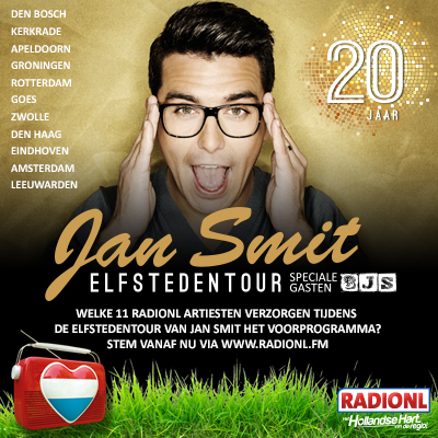 Radio NL actie Elfstedentour Jan Smit